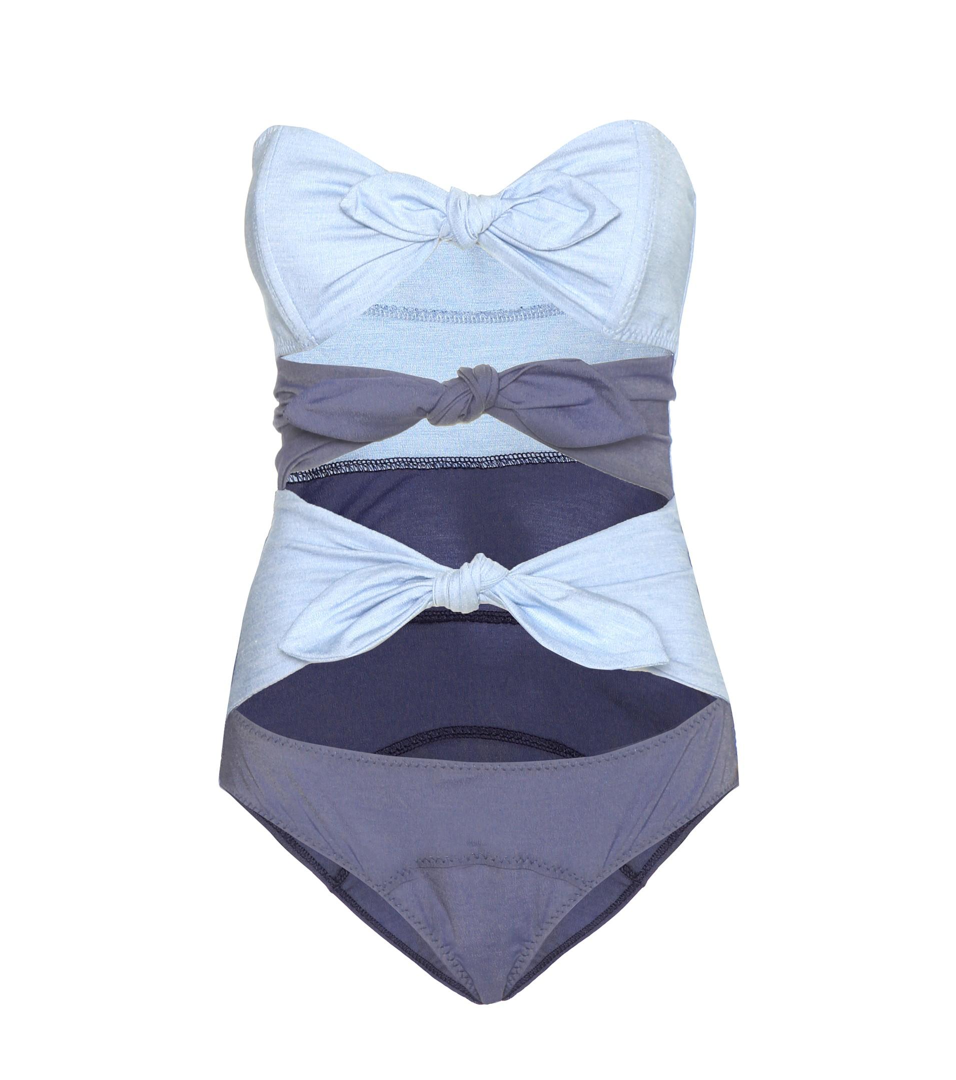 3f2bb072fb3a3 Lyst - Lisa Marie Fernandez Triple Poppy Denim Swimsuit in Blue