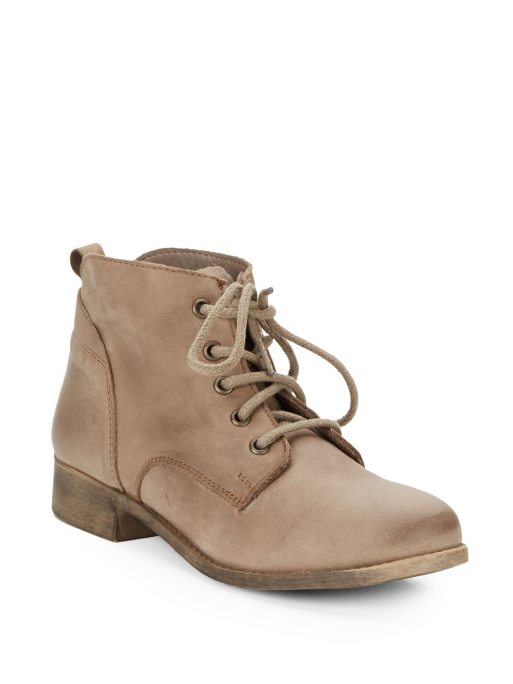 Steve madden Rubin Leather Lace-up Ankle Boots in Brown for Men | Lyst