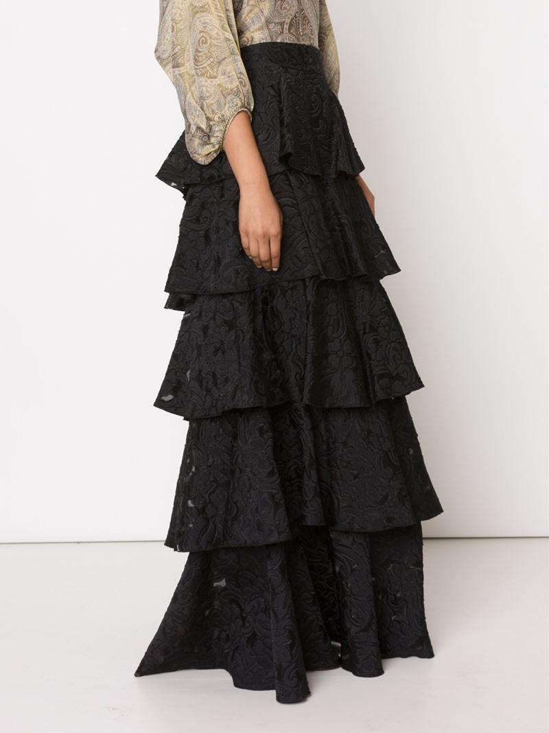 vilshenko rara mixa skirt in black lyst