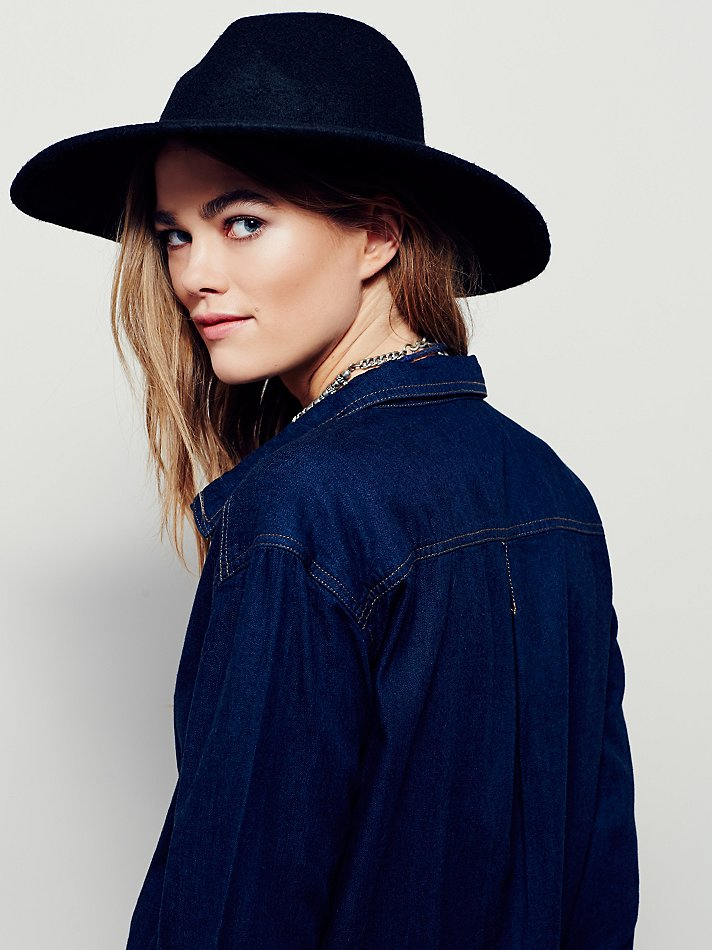 f9033ac1e4 Lyst - Free People Delicate Details Shirt Dress in Blue