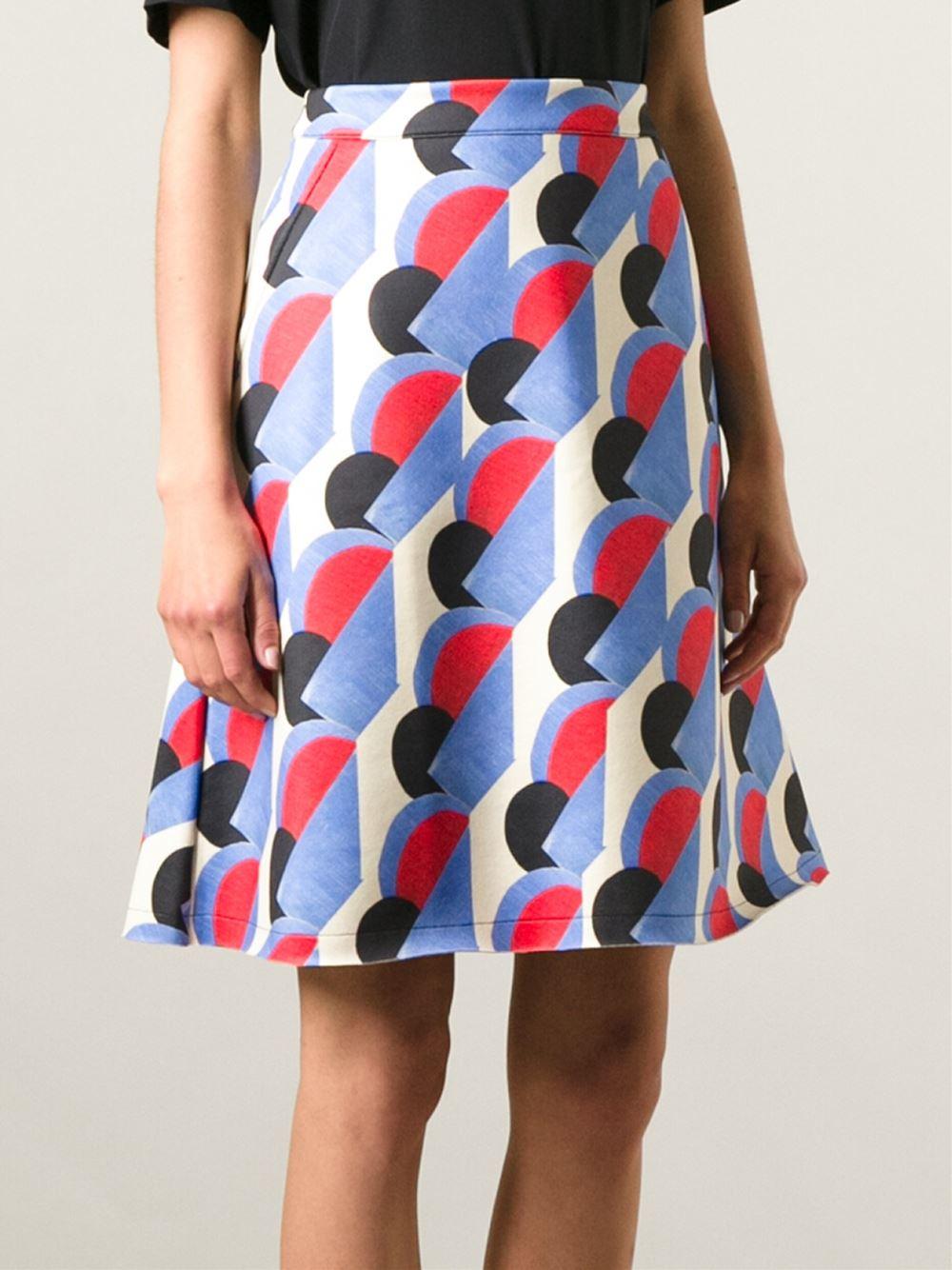 Être cécile Geometric Print Skirt | Lyst