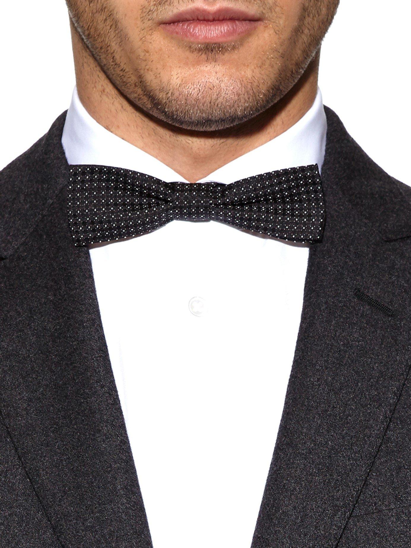 d0c71c8960dd ... ireland lyst dolce gabbana polka dot jacquard silk bow tie in black for  men 5c109 ea79b ...