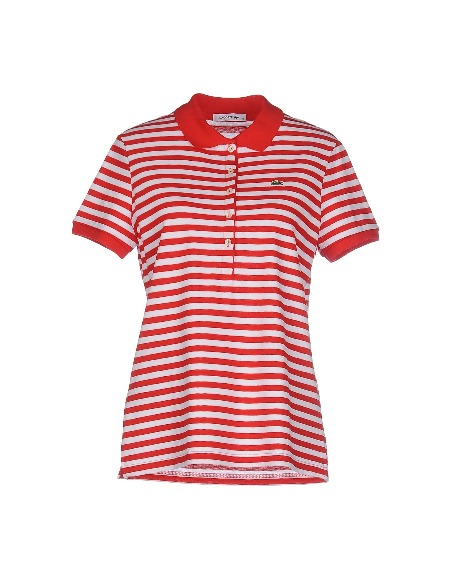 Lacoste polo shirt in red lyst for Lacoste poloshirt weiay