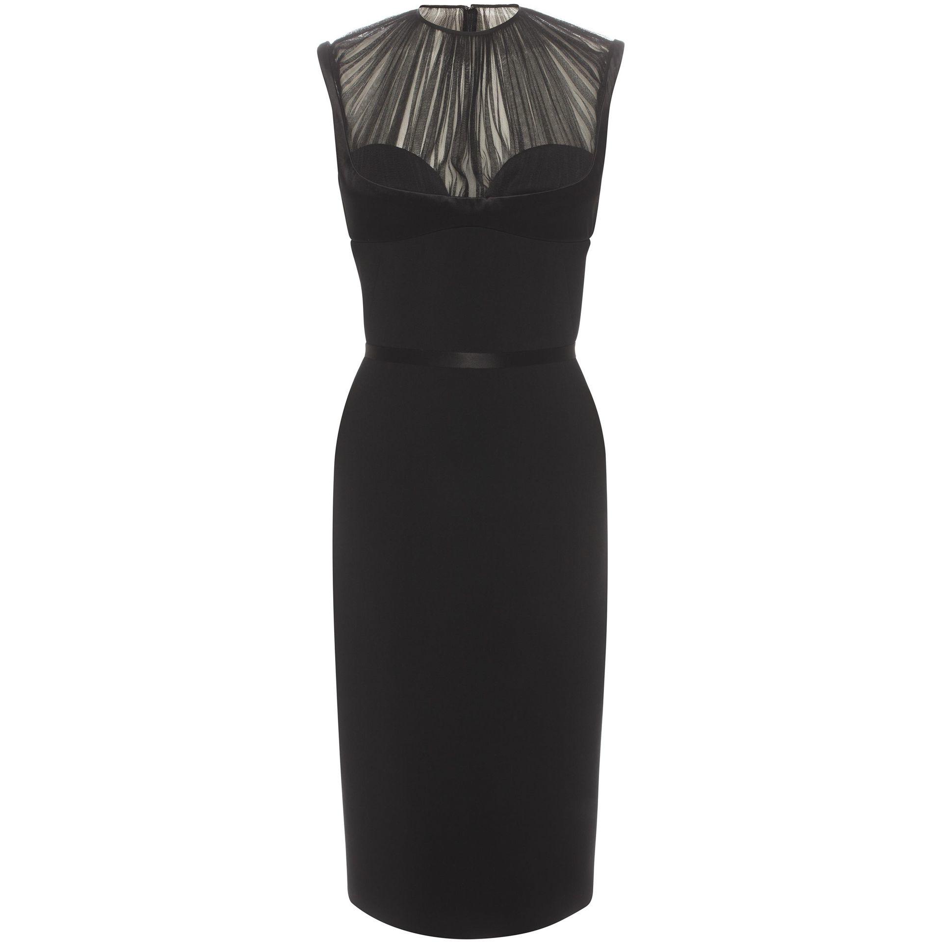 9621dee44fc Alexander McQueen Harness Pencil Dress in Black - Lyst