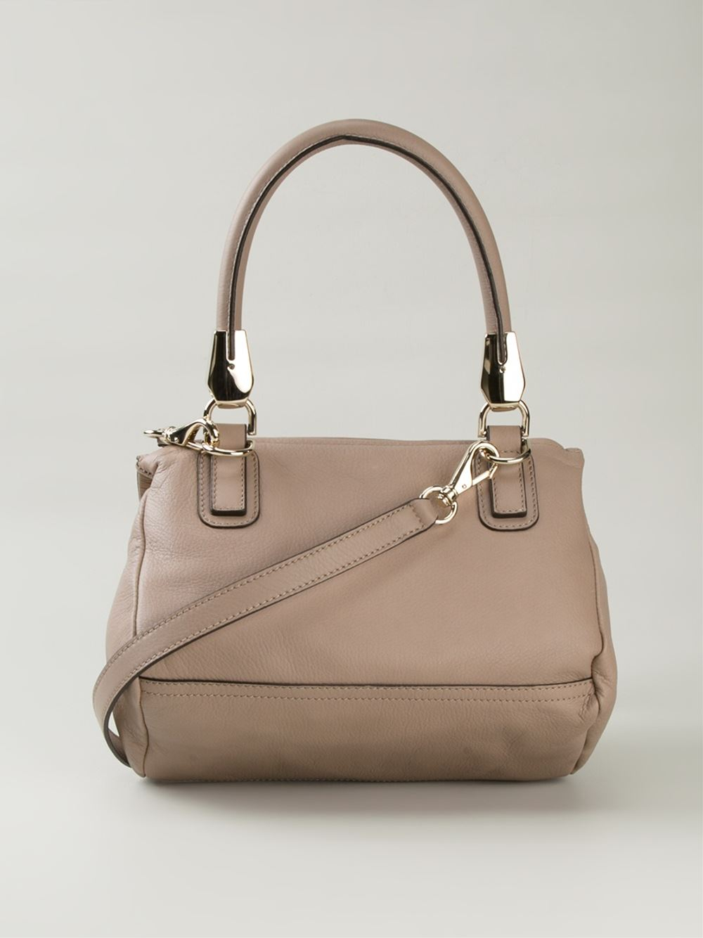 6da3651860d Givenchy Pandora Medium Calf-Leather Shoulder Bag in Natural - Lyst