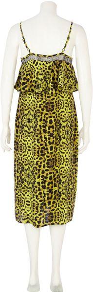 River Island Lime Green Midi Dress