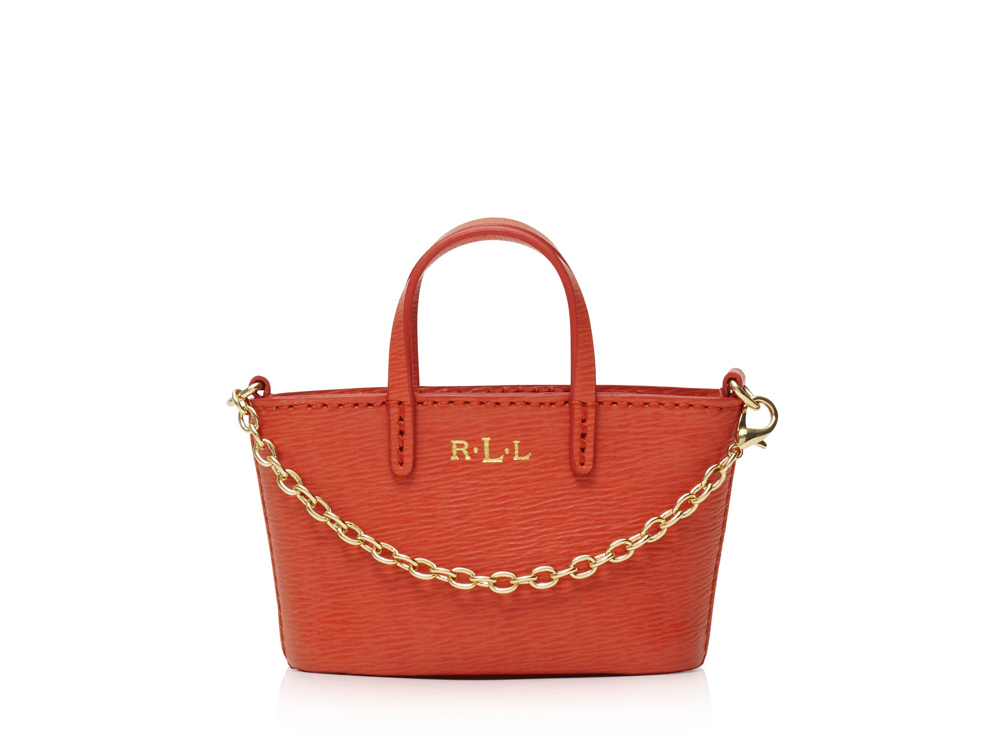 Lyst - Ralph Lauren Lauren Mini Tote Bag Charm in Red 00c2a957f8206