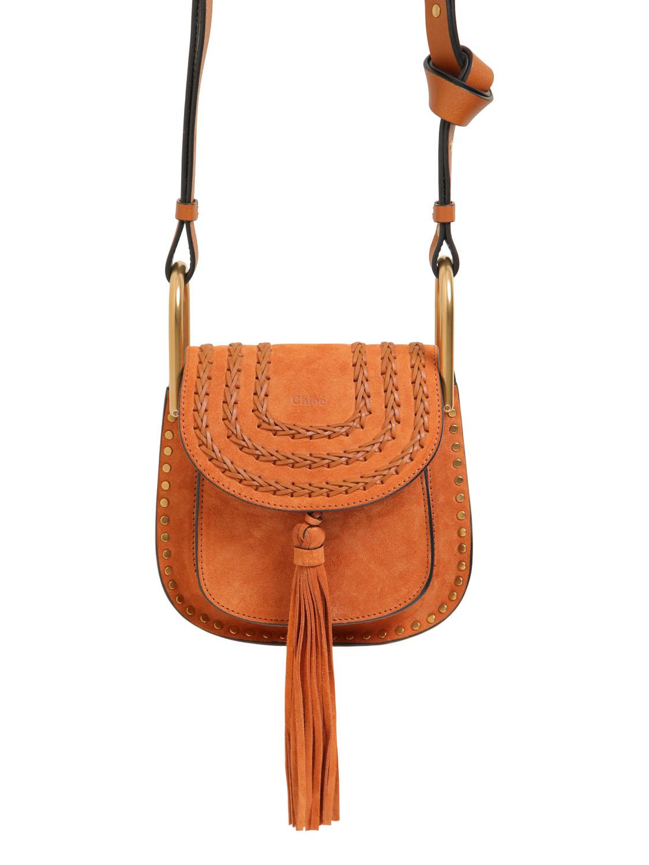 chloie bags - chloe women mini hudson studs suede w braids bag, knockoff chloe bags