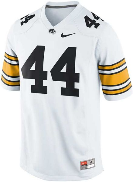 Nike Men S Iowa Hawkeyes Replica Football Game Jersey In White For Men Lyst