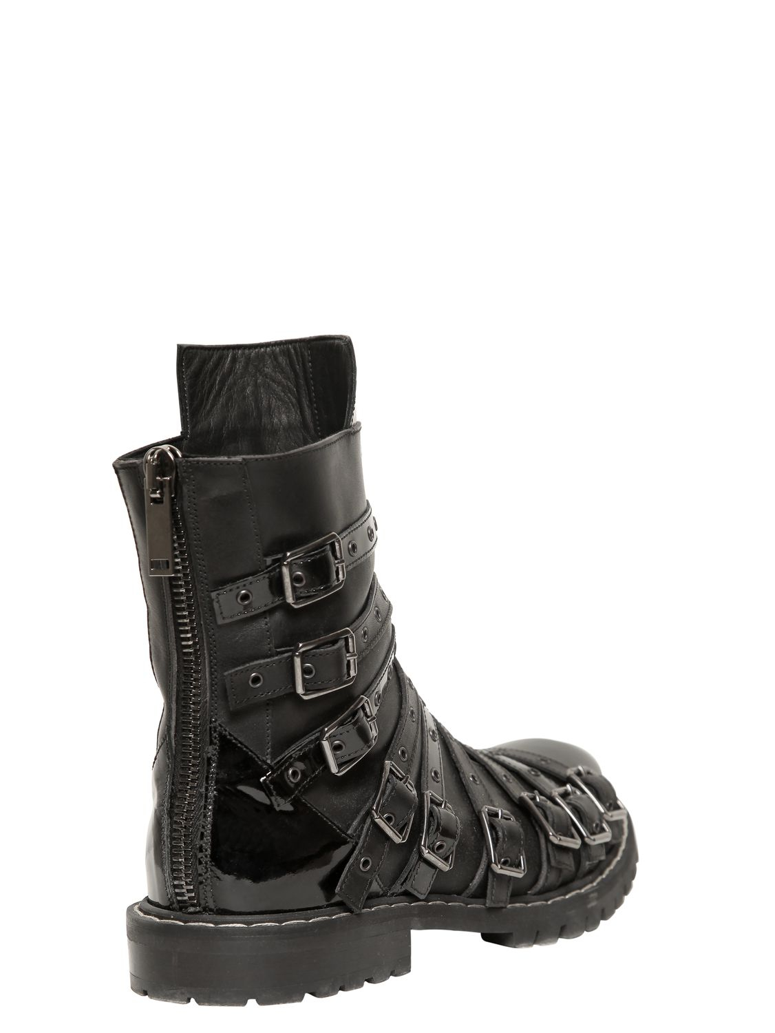 gareth pugh belted low boot in black for lyst