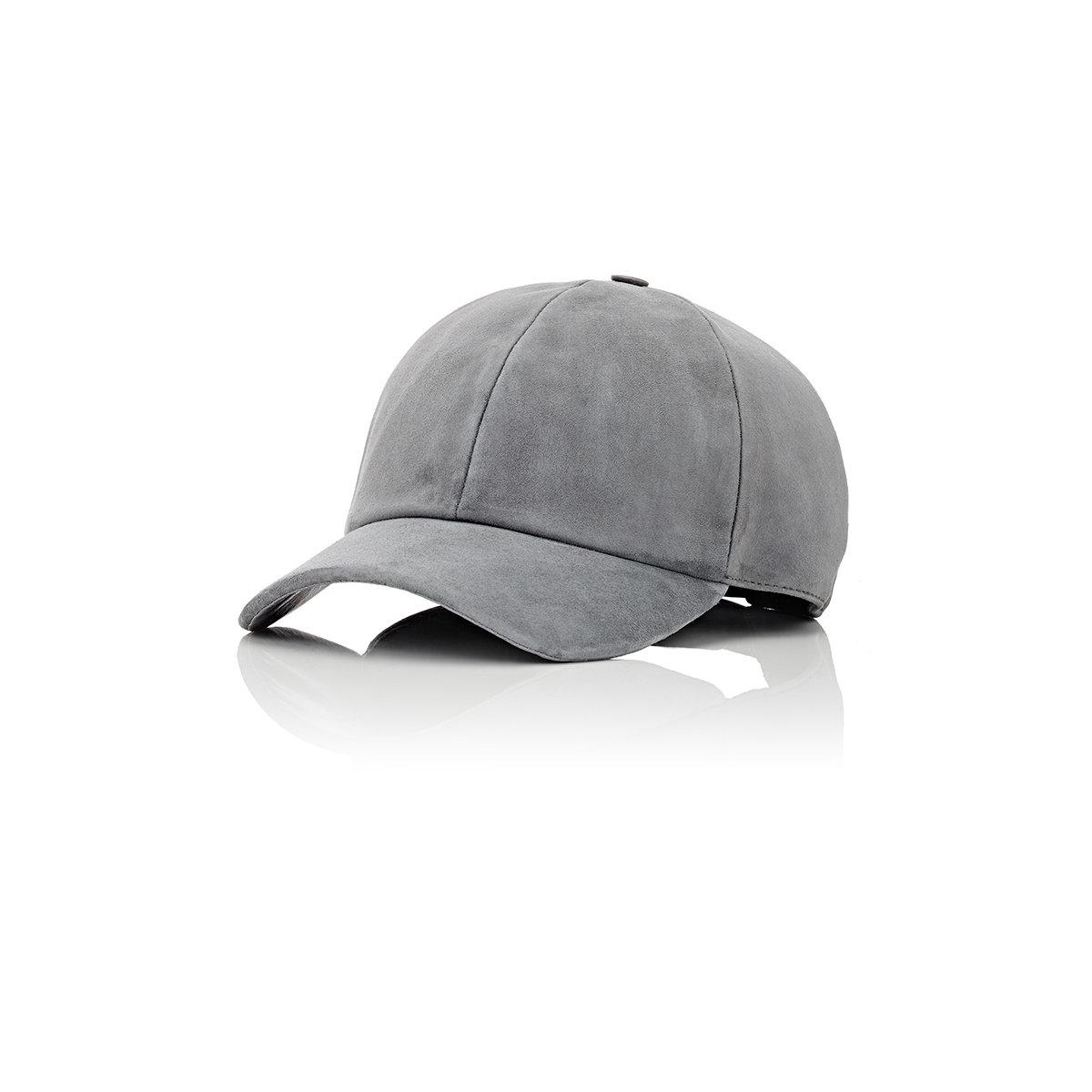 Lyst - Vianel Men s Suede Baseball Cap in Gray for Men 57bdaae62d6