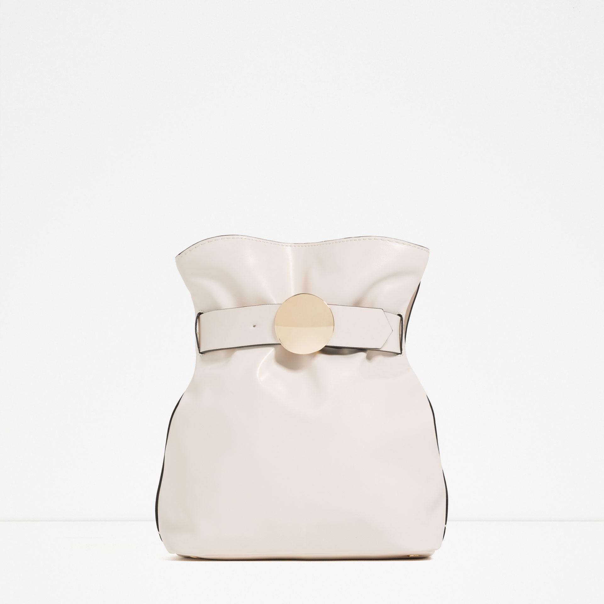 prada ecru cotton clutch bag