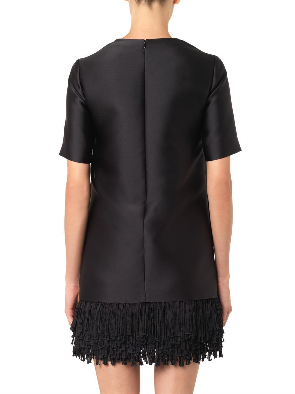 350e9fba0fad Lyst - Stella McCartney Aude Fringe-Hem Dress in Black