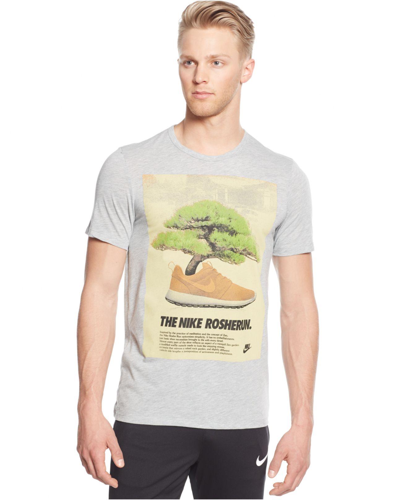 For Gray Lyst Roshe Nike Bonsai Men In T Shirt wqY6zqxp