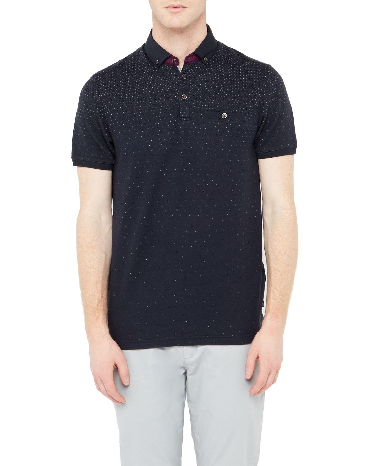 Ted baker regstep ombre polo shirt in blue for men lyst for Ted baker mens polo shirts