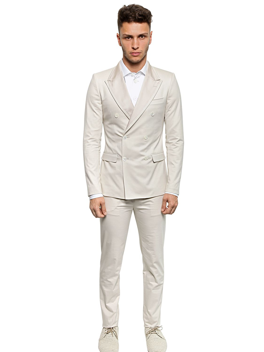 Dolce & gabbana Slim Fit Stretch Cotton/Silk Canvas Suit in ...