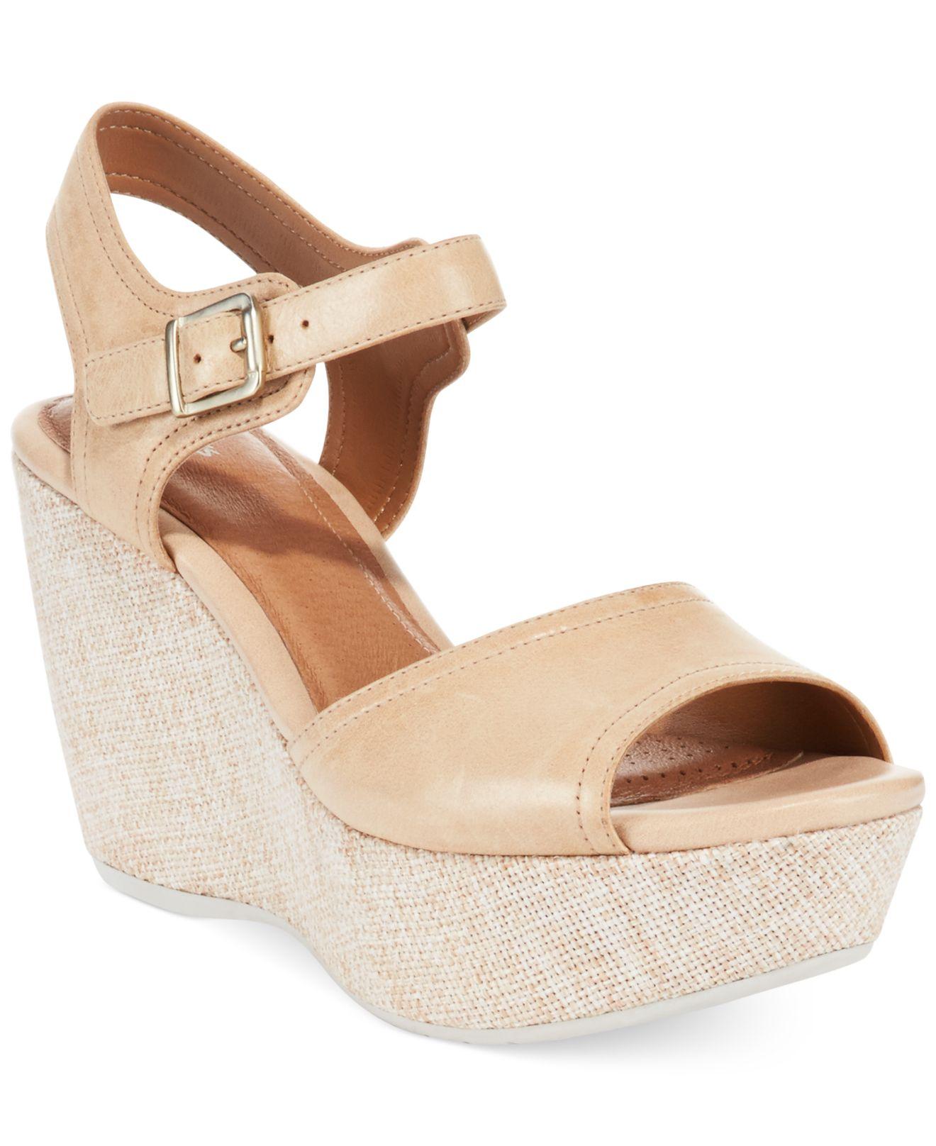 87071183c2c756 Lyst - Clarks Artisan Women s Nadene Lola Platform Wedge Sandals in ...