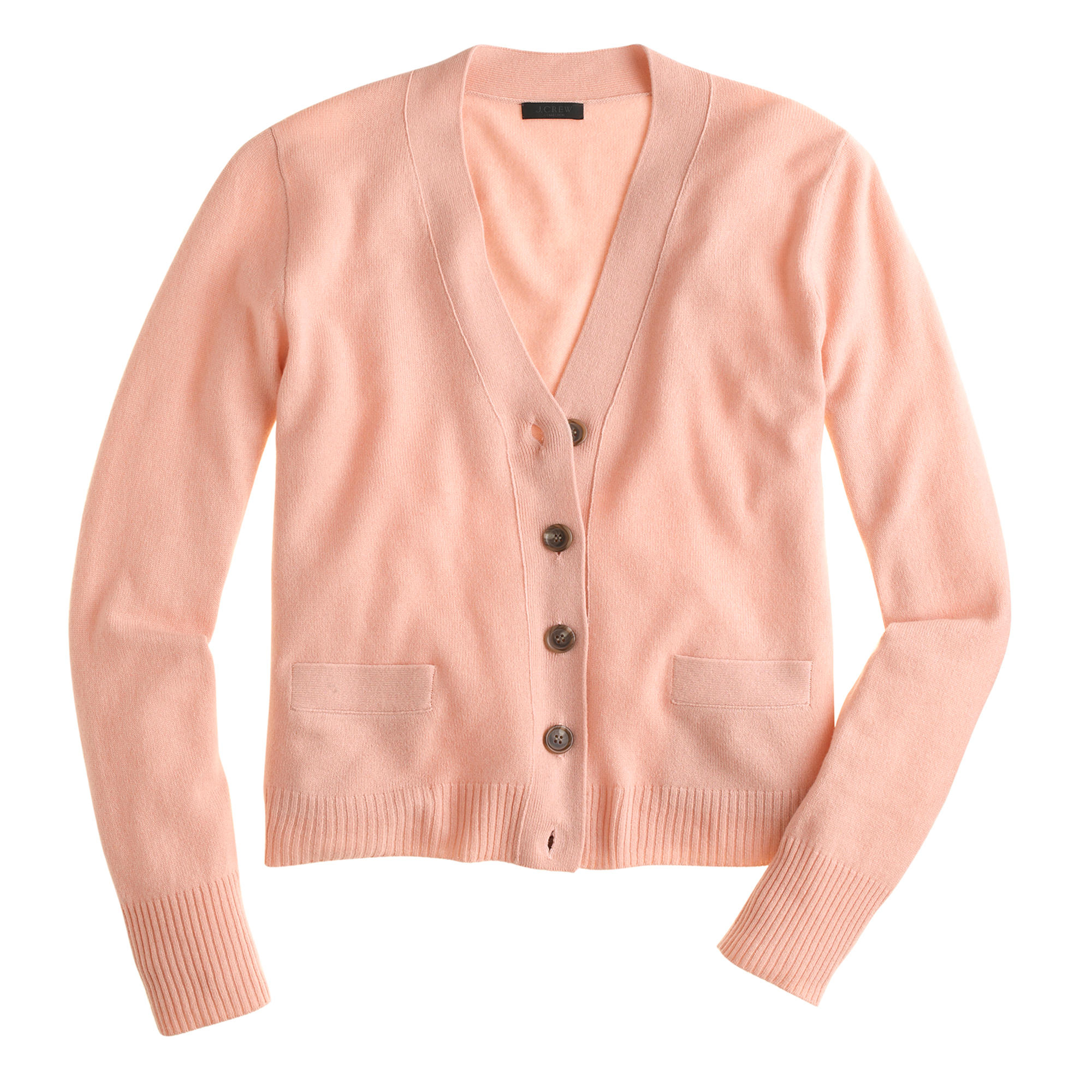 J.crew Petite Collection Cashmere V-neck Cardigan Sweater in ...
