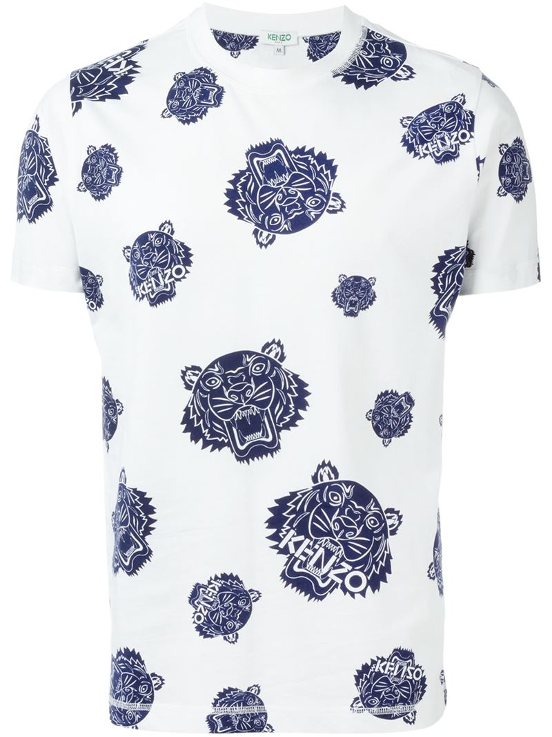 b43077e7d KENZO 'tiger' T-shirt in Blue for Men - Lyst