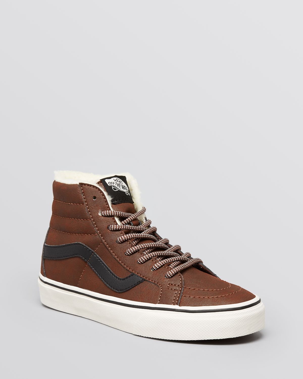 Hi Sneakers Lace High Reissue Top Lyst In Up Brown Vans Sk8 wUFnO01n