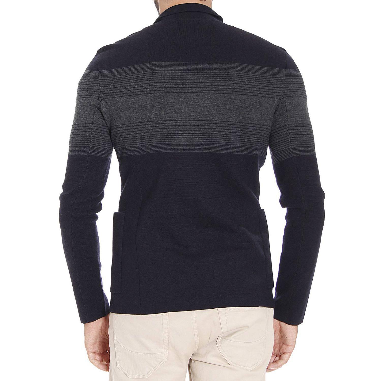 emporio armani sweater in blue lyst. Black Bedroom Furniture Sets. Home Design Ideas