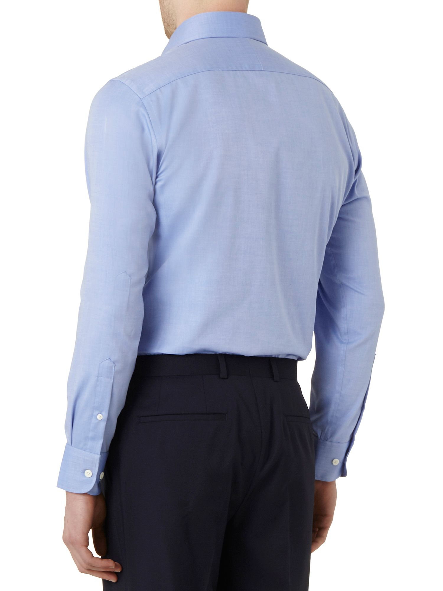 Lyst austin reed non iron slim fit twill shirt in blue for Slim fit non iron shirts
