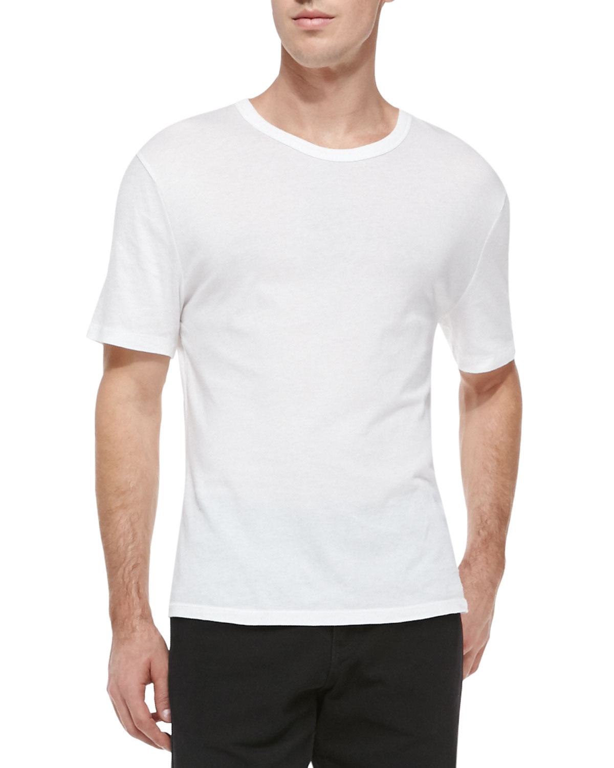 T by alexander wang pima cotton classic t shirt in white for Pima cotton tee shirts