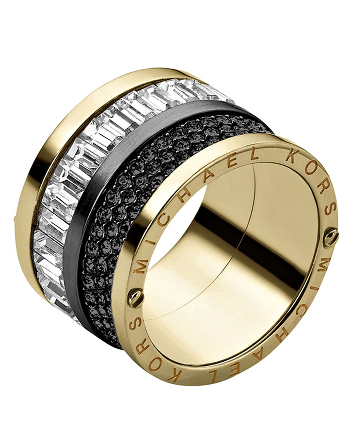 michael kors pave baguette ring in black lyst. Black Bedroom Furniture Sets. Home Design Ideas