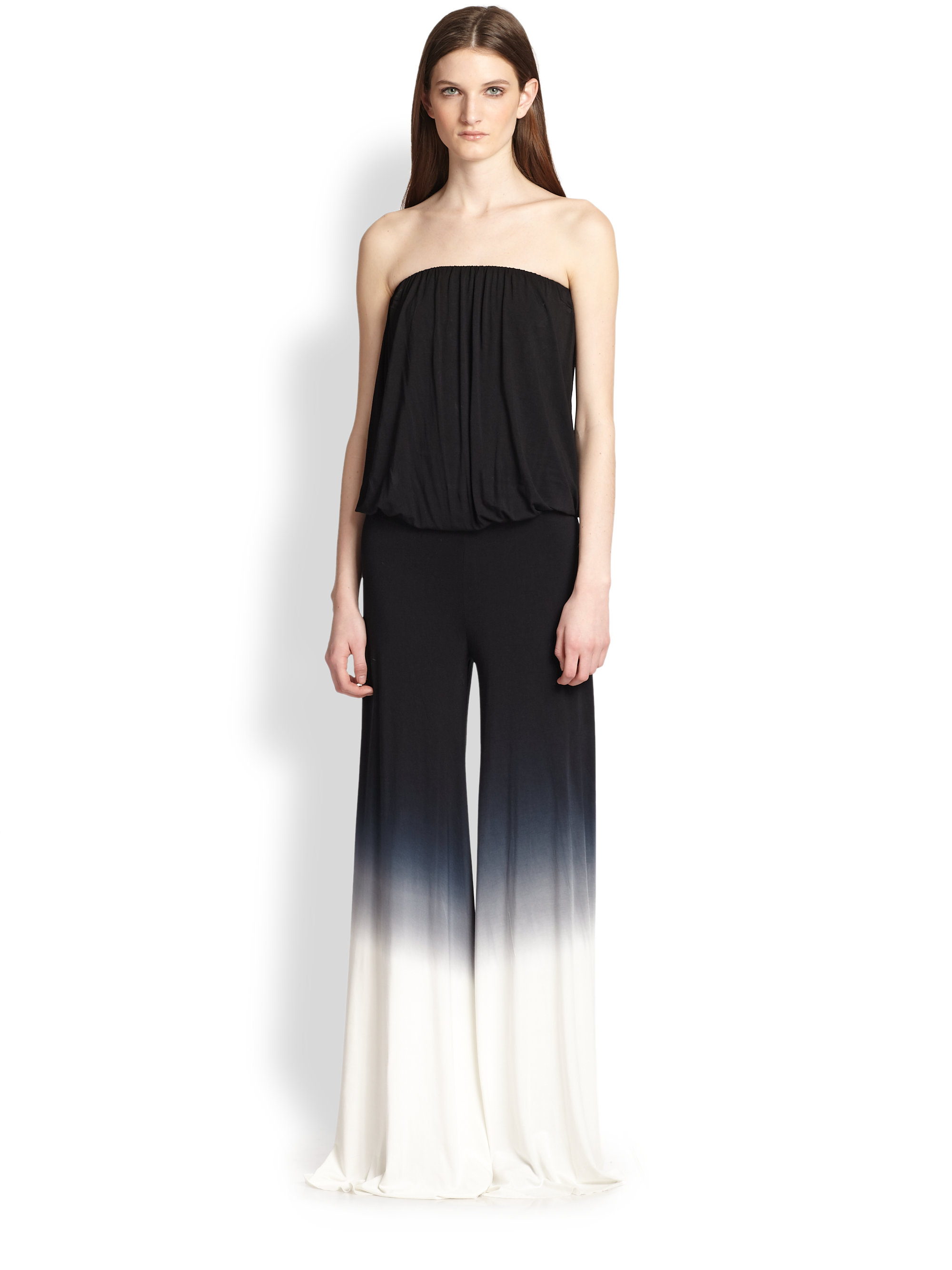 Lyst Young Fabulous Broke Sydney Strapless Ombre Wideleg