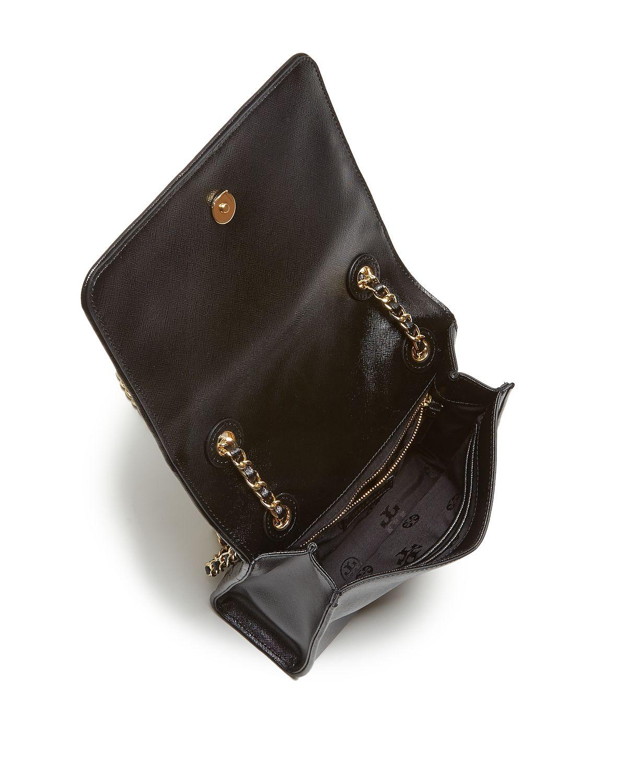 188f346f8706 Tory Burch Shoulder Bag - Fleming Patent Medium in Yellow - Lyst