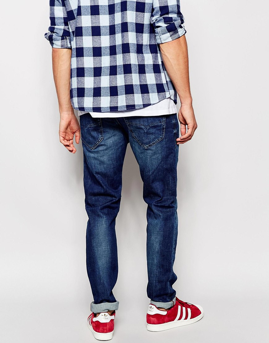 85b67998 DIESEL Jeans Tepphar 836x Skinny Fit Stretch Mid Wash in Blue for ...