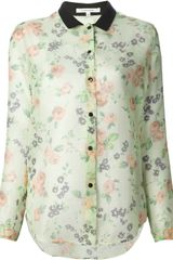 Carven Flower Printed Shirt