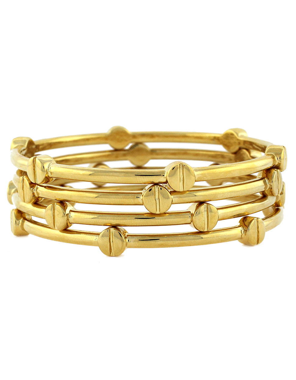nail head adorable gold plated hinged sterling forever pin bracelet