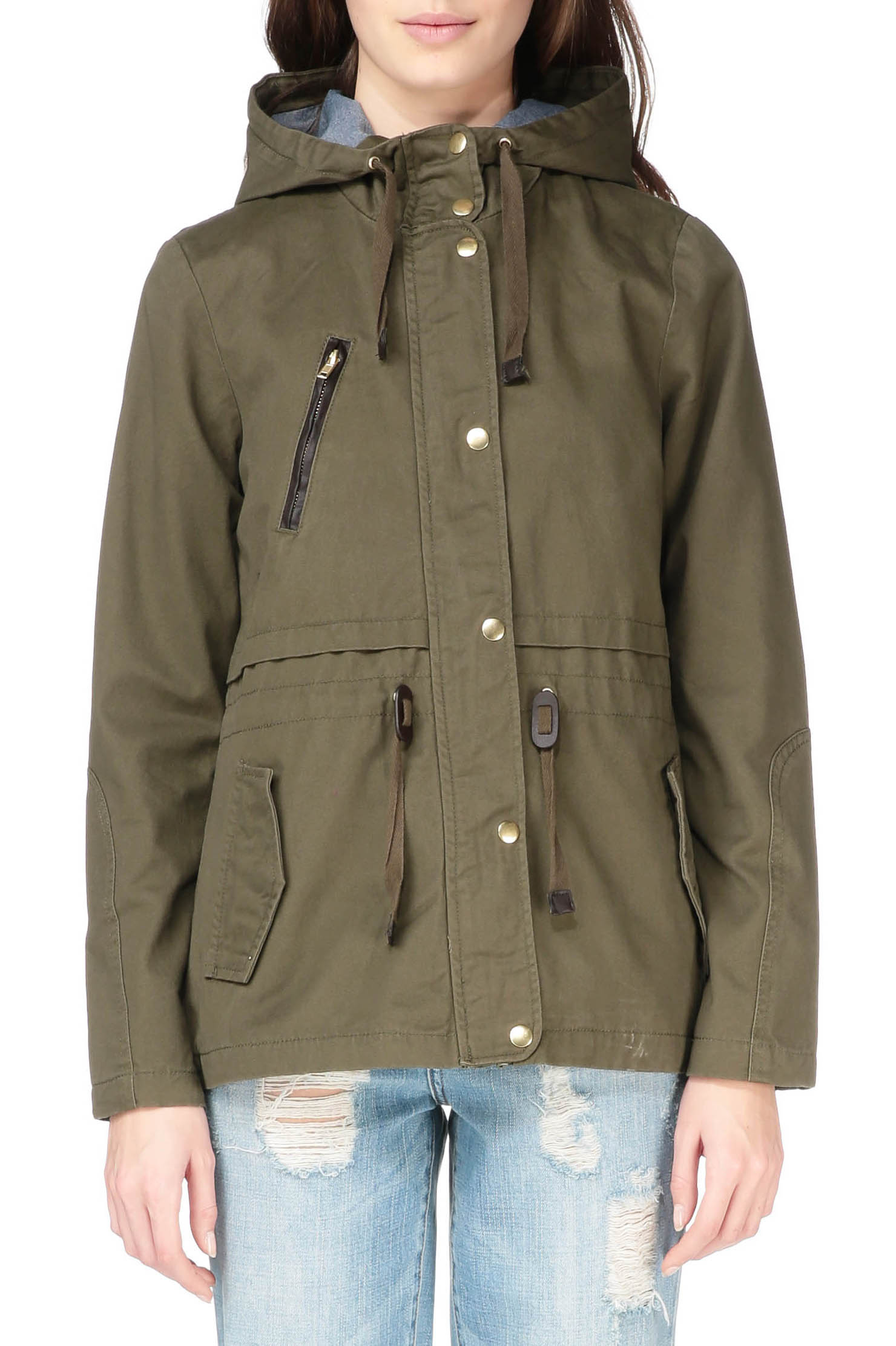 vero moda trench parka in green for men lyst. Black Bedroom Furniture Sets. Home Design Ideas