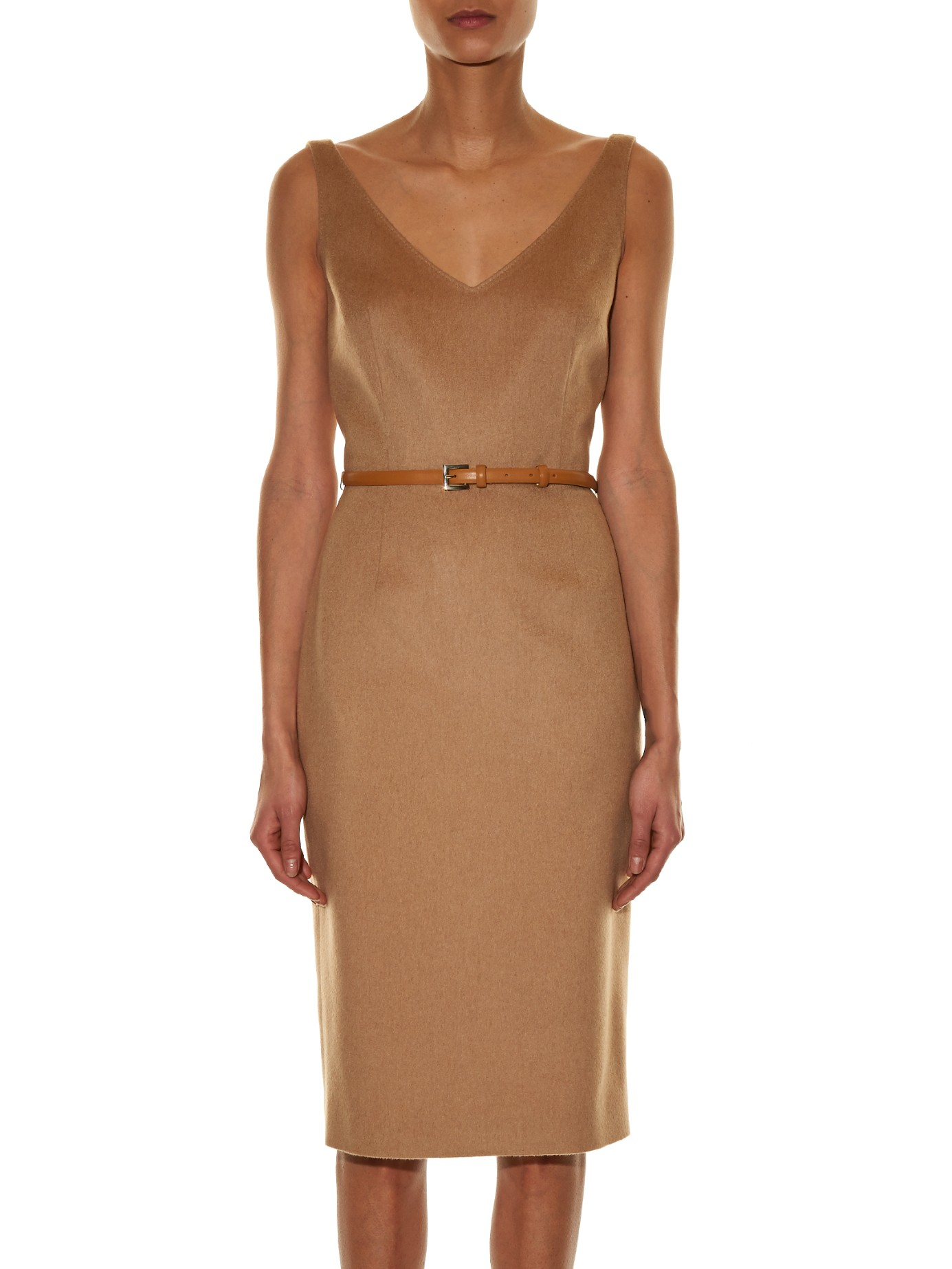 Lyst Max Mara Alarico Camel Hair Dress In Natural