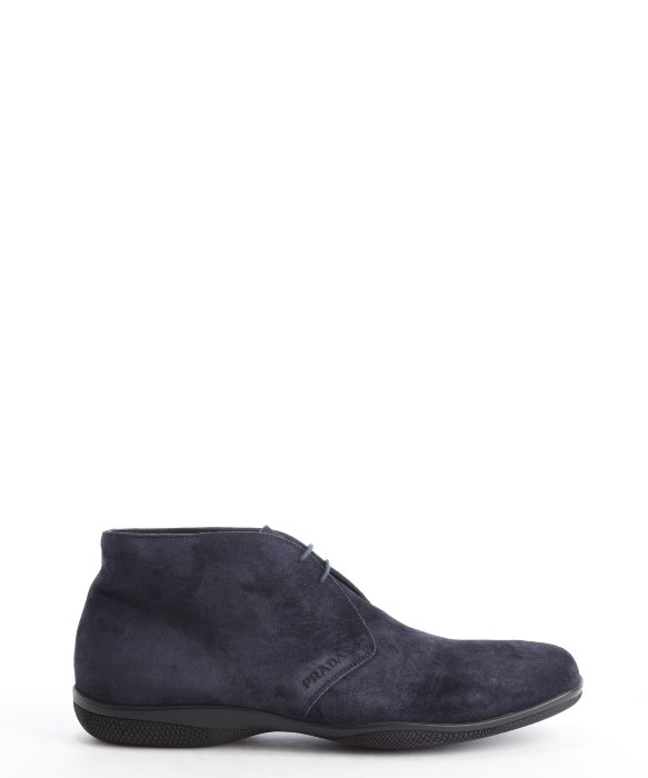 84c4c45270a ... wholesale lyst prada sport blue suede lace up chukka boots in blue for  men 86a43 45630