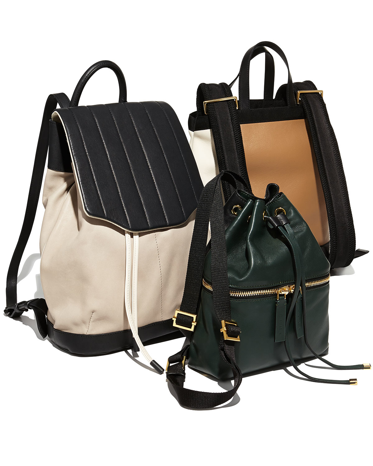004e3d7068c Lyst - Marni Parachute Tricolor Backpack in Natural for Men