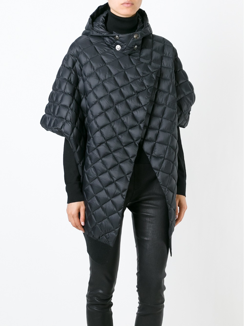 Balmain Quilted Padded Coat in Gray | Lyst : quilted padded coat - Adamdwight.com