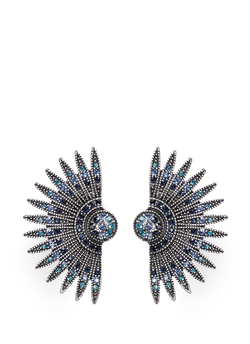 Lulu Frost Beacon Crystal Stud Earrings lfmW5sh86
