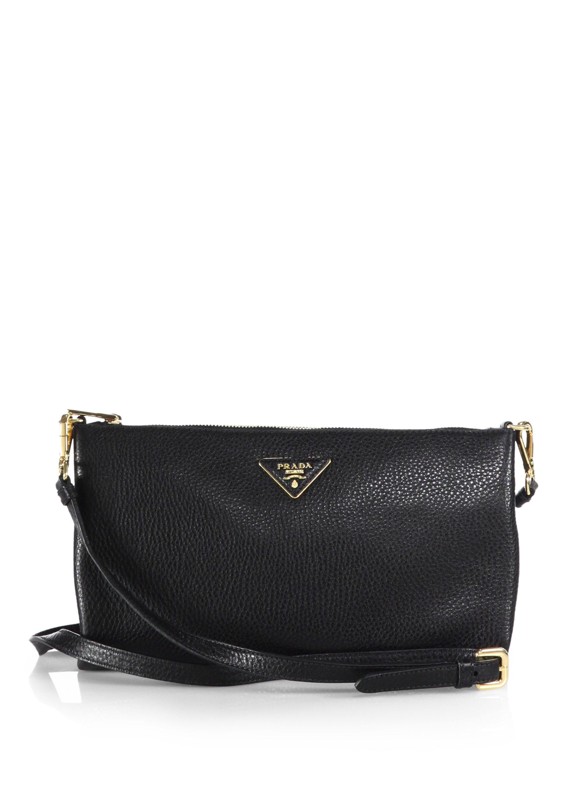 5c878dfc5716 cheap lyst prada daino crossbody bag in black b802c 96c3e