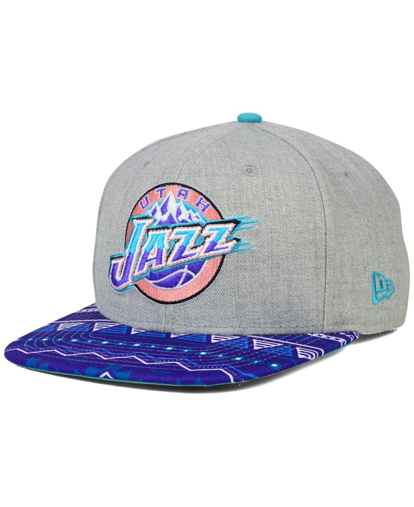 Lyst - KTZ Utah Jazz Neon Mashup 9fifty Snapback Cap in Blue for Men e04ac53cc