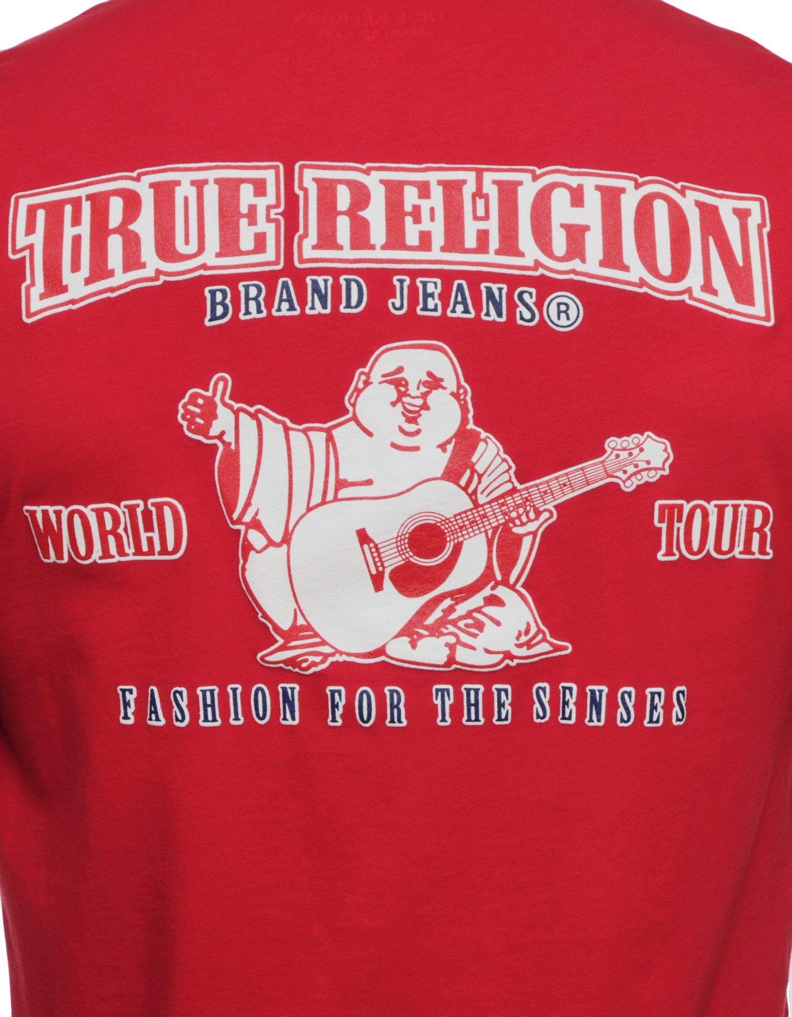 True religion Logo Double Puff Mens T-Shirt in Red for Men ...