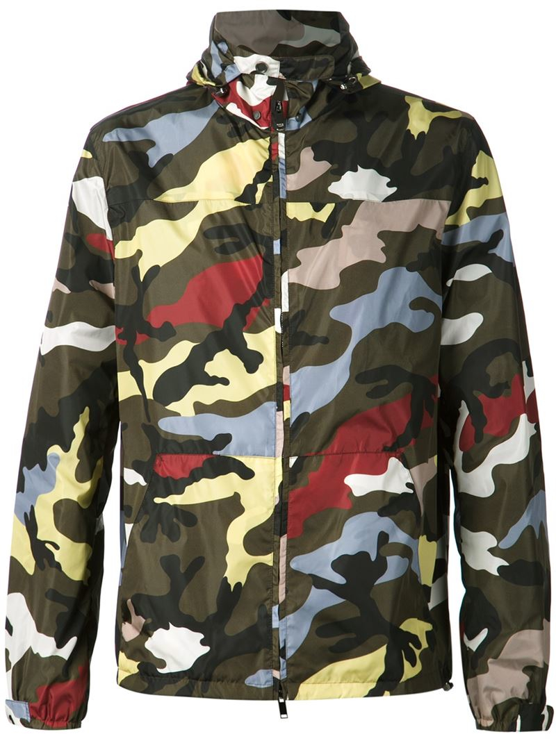 08297d6332b00 Valentino Camouflage Windbreaker in Green for Men - Lyst