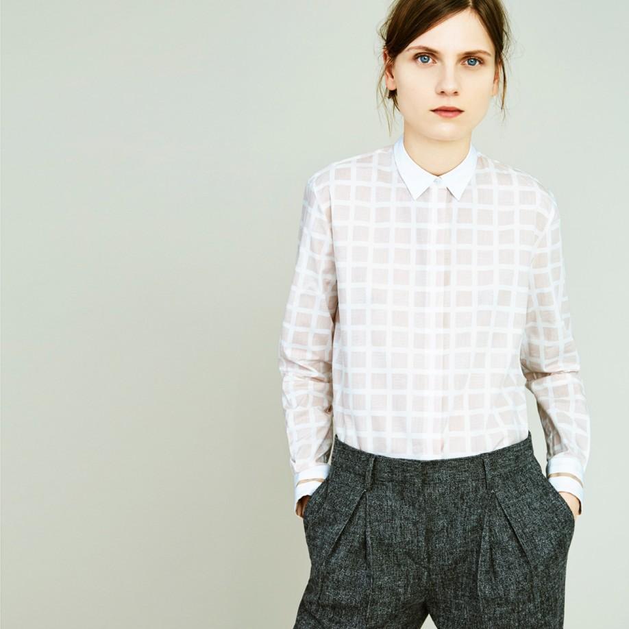 Paul Smith Women S Grey Wool Flannel Pleat Front Trousers