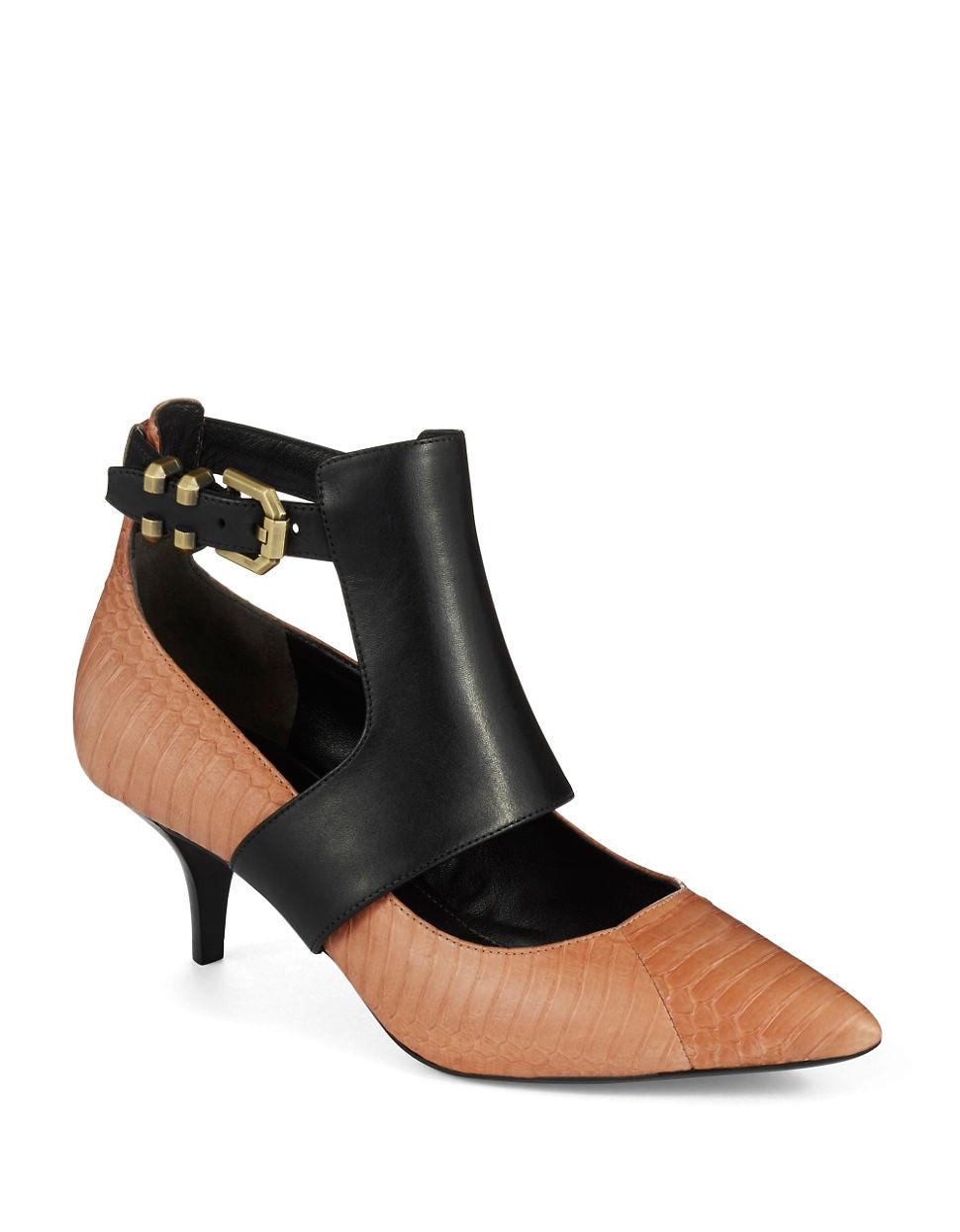 kenneth cole makaren kitten heels in brown lyst. Black Bedroom Furniture Sets. Home Design Ideas