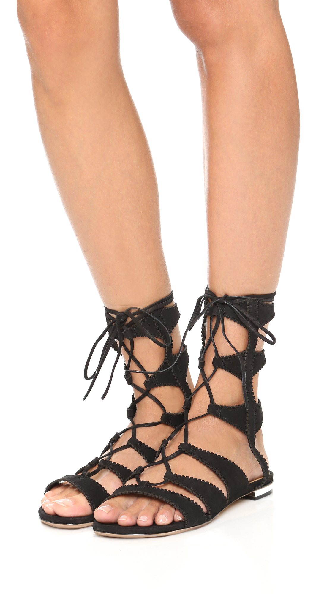 Schutz Samena Gladiator Sandals In Black Lyst