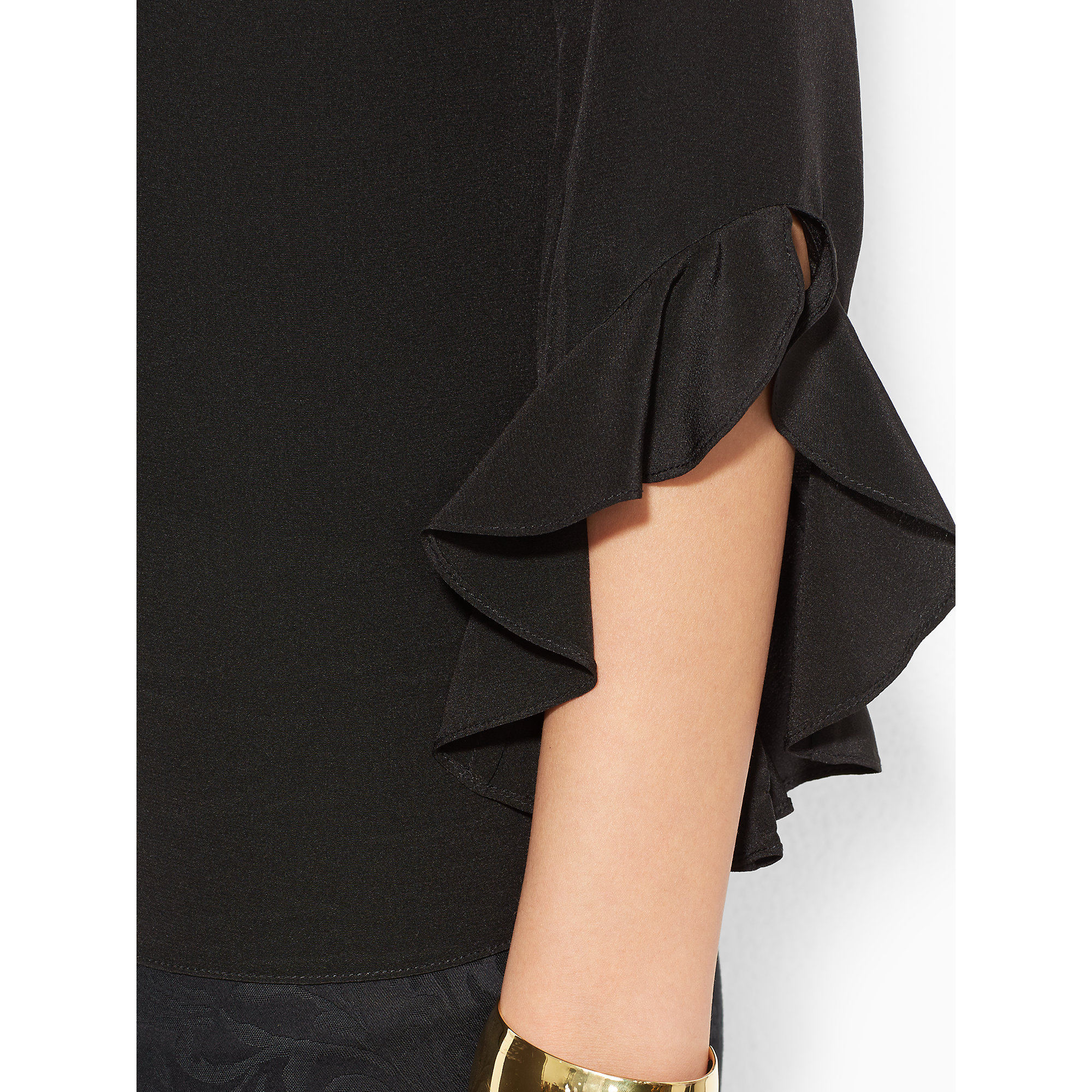 Ralph Lauren Black Silk Blouse 116