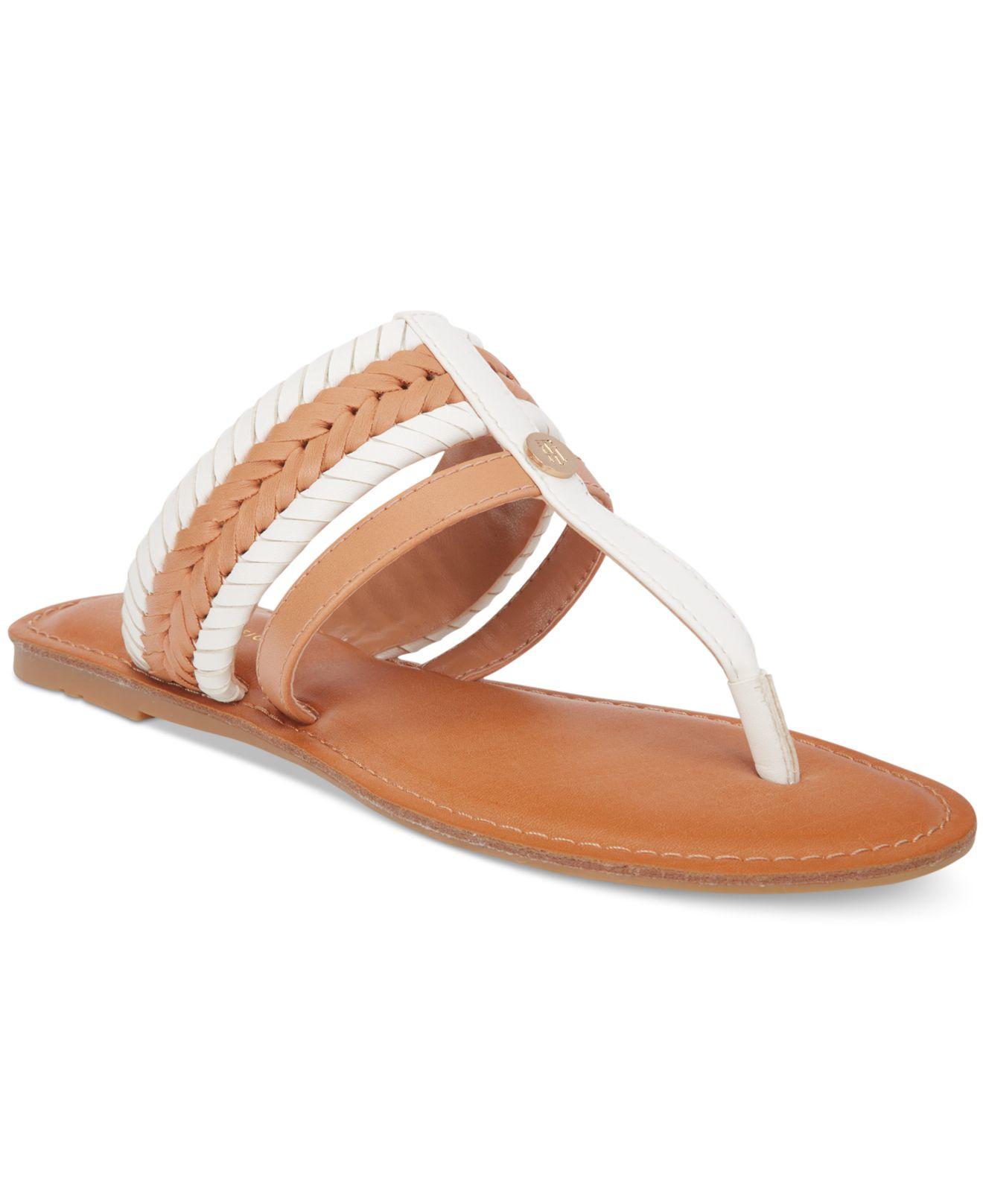 de3f3ed5f9f Lyst - Tommy Hilfiger Lady Flat Thong Sandals in Metallic