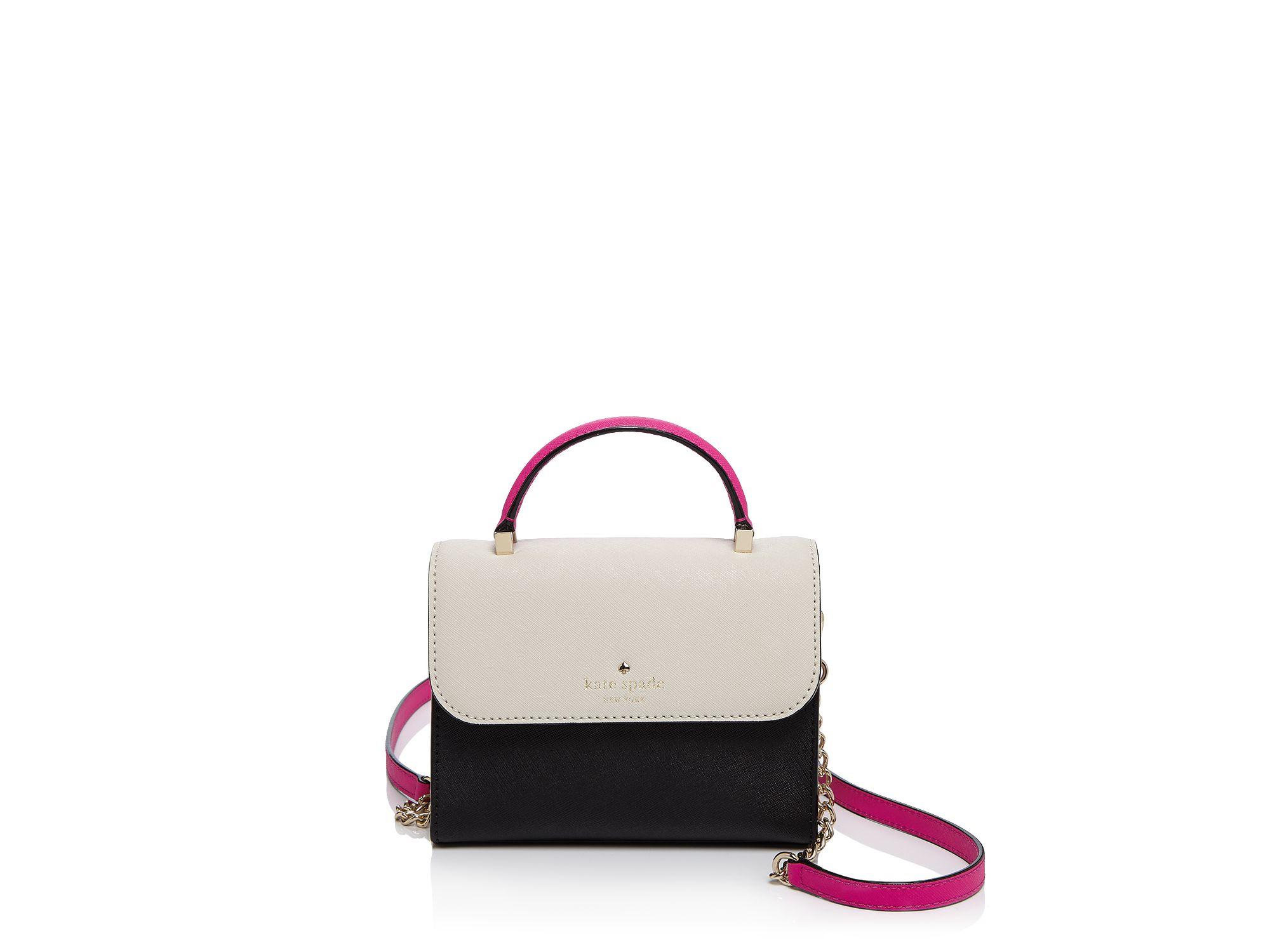 c8179f99fa7c Lyst - Kate Spade Cedar Street Color Block Mini Nora Crossbody in Black
