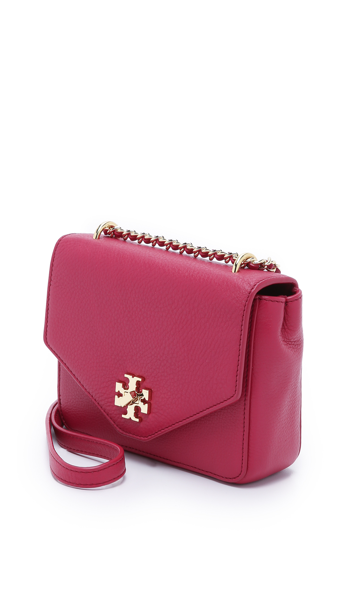 c66666d20f8 Tory Burch Kira Mini Chain Cross Body Bag - Raspberry in Red - Lyst
